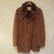 Vintage StratoSuede StratoJac Faux Fur Lined Brown Suede Coat Jacket - Size 46