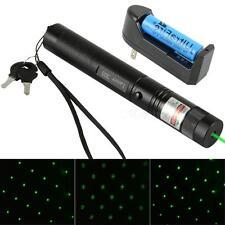 303 Green Laser Pointer Pen Adjustable Focus 532nm Beam & Battery Charger