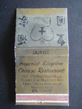 IMPERIAL KINGDOM CHINESE RESTAURANT HIGHT STREET ROAD SYNDAL 2326787 MATCHBOOK
