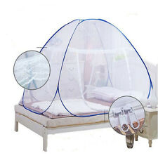 Dual-Door Zipper Pop Up Mosquito Net Folding Tent Fit Baby Adult Anti-mosquito