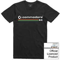 Commodore 64 T Shirt Officially Licenced Vintage Computer Multi Colour Logo