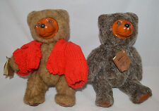 "(2) Robert Raikes Teddy Bear Plush 9"" Jamie 1985"