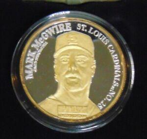 MARK MCGUIRE ST LOUIS CARDINALS ENVIROMINT .999 FINE SILVER W/ 24 KT GOLD 62 HRS