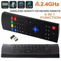 2.4G Wireless Air Mouse Remote Control Keyboard For Android TV Box UK New