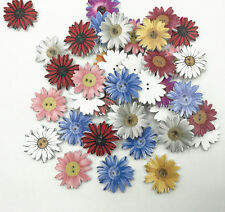 25pcs Flowers Wooden Buttons Fit Sewing Scrapbooking decoration Mix color 26mm