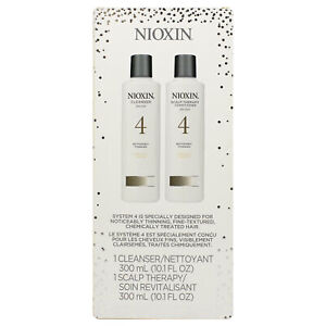 Nioxin System 4 Cleanser and Scalp Therapy Duo - each 10.1 oz
