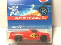 1996 Hot Wheels #380 Race Truck #1 Dodge Ram 1500 red no tire tampo Variation