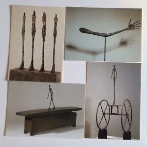 4 Versch. Motive von Alberto Giacometti, Skulpturen, Kunstkarten, Neu