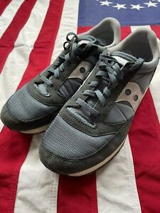Saucony Jazz Blue Silver UK9 Sneakers Trainers Retro Style Running Shoes Ivy
