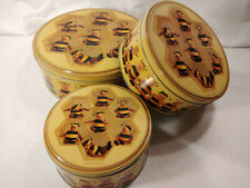 Anne Geddes 3 Collectible Tin Container Set Baby Bees Honeycomb 2014