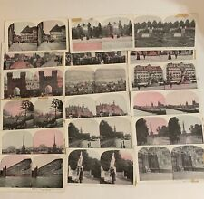 Stereoscope Vintage Germany Scene Color 3D Stereo Viewer Photo Card Lot