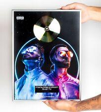 PNL Poster, Deux Freres GOLD/PLATINIUM CD, gerahmtes Poster HipHop Rap WallArt