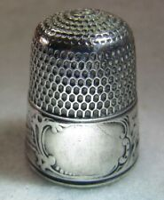 #302 LANDSCAPE GRAY  STERLING SILVER THIMBLE - SIMONS BROS CO (SIZE 9)