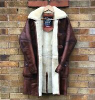 Bane Coat Sheepskin Winter Leather Jacket Real Fur Shearling Brown XS-5XL Custom