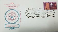 A) 1967 PAKISTAN, NATIONAL JAMBOREE KARACHI, HAND, AIRMAIL, FDC.