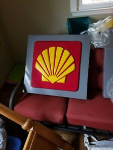 Gas station-Shell Lighted Sign