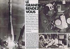 COUPURE DE PRESSE CLIPPING 1975 Le rendez-vous Apollo-Soyouz  (10 pages)
