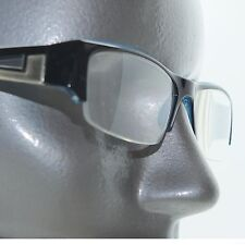 Bold Boss Chunky Blue Top Frame Invisible Lens Reading Glasses +2.25 Strength
