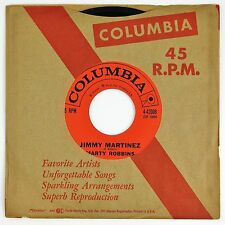 MARTY ROBBINS Jimmy Martinez / Ghost Train 7IN VG++