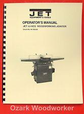 "JET/Asian JJ-8CS 8"" Wood Jointer Operator's & Parts Manual 0376"