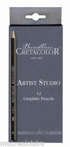 Assortiment 12 crayons graphite - Artist Studio -  Cretacolor
