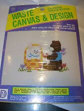 NEW COUNTED CROSS STITCH KIT WASTE CANVAS PROJECT CRAFT RABBIT BEAR BUNNY