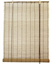 "3' x 6' 36"" x 72"" Brown Bamboo Matchstick Window Roll Up Blind Shade Round Stick"