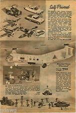1960 ADVERT Toy Cadillac Friction Motor Whirlybird Remco Firebird 99 Dashboard