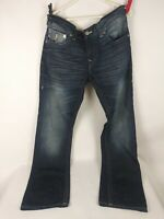 True Religion Women's Size 32 Distressed Straight Leg Jeans Free Shipping!