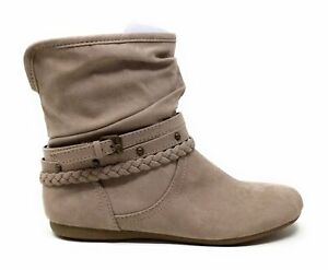 Report Footwear Womens Elson Pull On Ankle Boots Taupe Suede Size 6 M US