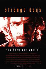 STRANGE DAYS (1995) ORIGINAL MOVIE POSTER  -  RED STYLE ADVANCE  -  ROLLED