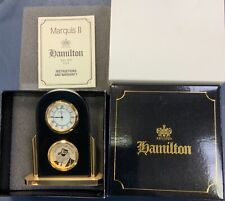 Joe Camel Hamilton Marquis II Black & Gold Shelf Mantel Clock New MINT RARE
