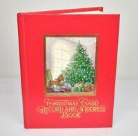 Vintage 1987 Hallmark Christmas Card Record Address Book New In Box NOS Vtg