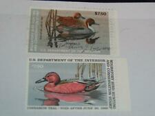 Vintage MIGRATORY BIRD STAMPS - DUCK STAMPS c1984 Signed and c1986 Mint