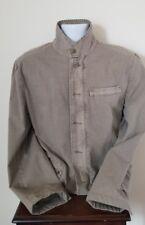 Johnston & Murphy Light Brown Tan Denim Coat Jacket Mens Medium 100% Cotton