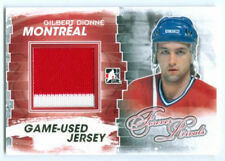 "GILBERT DIONNE ""2 COLOR GOLD GAME USED JERSEY CARD"" FOREVER RIVALS CANADIENS"