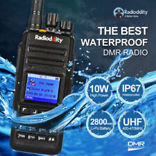Clearance! Radioddity GD-55 UHF DMR IP67 Digital 10W Ham Radio Walkie Talkie