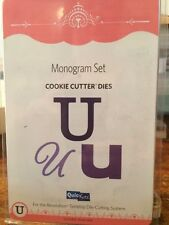 "NEW Quickutz / Lifestyle Crafts ""Monogram U "" (3 Die Set) Cookie Cutter Dies U01"