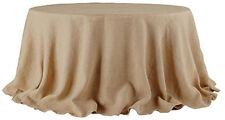 Tablecloth Burlap Natural Round 90 Inch By Broward Linens