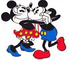 """8.5"""" Disney classic vintage mickey minnie mouse fabric applique iron on characte"""