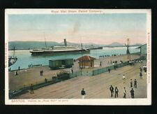 Brazil SANTOS Royal Mail Steam Packet Co Steamer c1900/20s? PPC