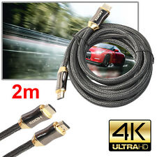 2m/6ft Premium Ultra HD HDMI Cable v2.0 High Speed Ethernet LCD HDTV 2160p 4K 3D