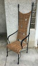 Fauteuil design style garouste fer rotin rattan iron chair