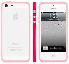 MACALLY RED PINK RIM PROTECTIVE FRAME CASE BUMPER FOR iPHONE 5 5s SE (2016)