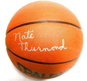 Nate Thurmond Autographed Signed Auto Basketball Ball Golden State Warriors HOF