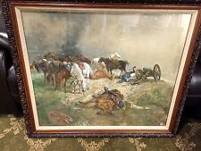 ORIGINAL JOHN LEWIS BROWN (BRITISH 1829 - 1890) GOUACHE ON PAPER, SIGNED, DATED