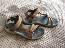 Teva Women's Terra Fi Lite Leather Sports and Outdoor Hiking Sandal, Brown, 8 UK