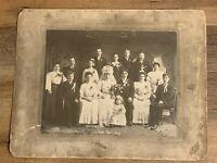 Vintage Early 1900's Wedding Family Photo Wedding Dress - Flowers Polis Detroit