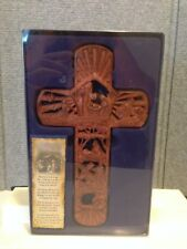 WALL CROSS FROM THE CRECHE TO THE CROSS DEPICTIONS OF JESUS LIFE ON EARTH NEW