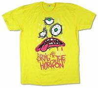 Bring Me The Horizon Lips Eyes Yellow T Shirt New Official BMTH Merch